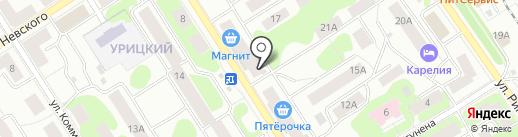 Мастерская по ремонту обуви и изготовлению ключей на карте Петрозаводска