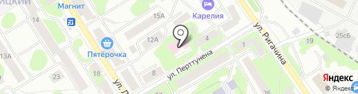 Дом сестринского ухода на карте Петрозаводска