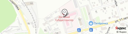 Областной детский туберкулезный диспансер на карте Брянска