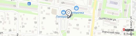 Полесский на карте Брянска