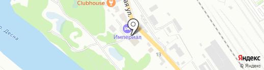 Автоцентр на Речной на карте Брянска