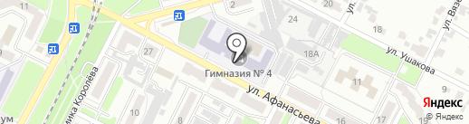 Гимназия №4 на карте Брянска