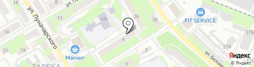 Молодежный клуб на Зареке на карте Петрозаводска