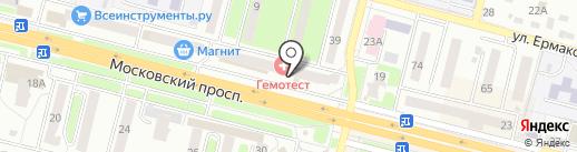 Нотариус Орехова Т.В. на карте Брянска