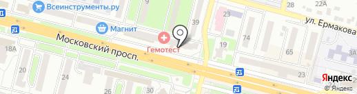 Магазин товаров для спорта и отдыха на карте Брянска