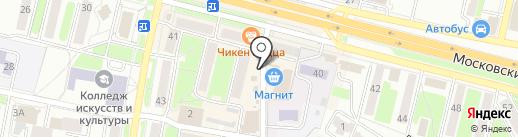 Сеть продуктовых киосков на карте Брянска