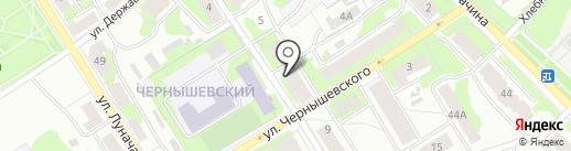 Держава на карте Петрозаводска