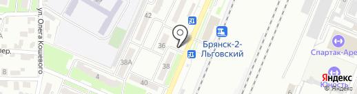 Теремок, продовольственный магазин на карте Брянска