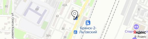 Киоск по продаже фастфудной продукции на карте Брянска
