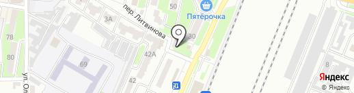 Варница на карте Брянска