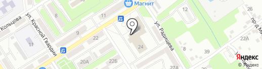 Городской дворец культуры им. Д.Е. Кравцова на карте Брянска