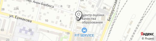 Брянский областной центр оценки качества образования, ГАУ на карте Брянска