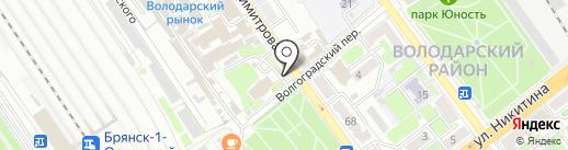 Киоск по продаже печатной продукции на карте Брянска