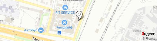 Автор на карте Брянска