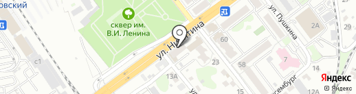 Сеть магазинов тканей и швейной фурнитуры на карте Брянска