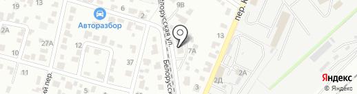 Зодиак-полраст на карте Брянска