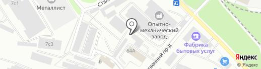 Телекомстрой на карте Петрозаводска