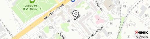Косоухофф на карте Брянска