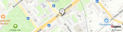 Детская библиотека №1 на карте Брянска