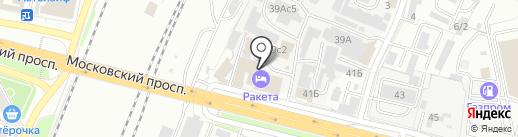 Ракета на карте Брянска