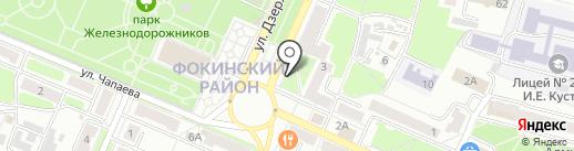 Сеть магазинов живых цветов на карте Брянска