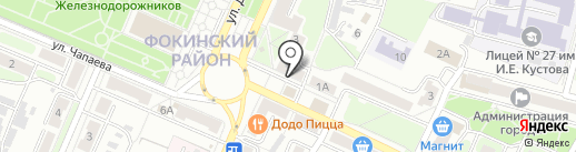 Никсан-Центр на карте Брянска