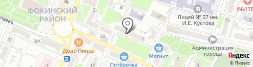 Почтовое отделение №20 на карте Брянска