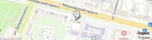 Фокинский районный суд г. Брянска на карте Брянска