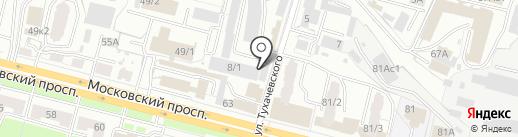 Оптовый магазин-склад на карте Брянска