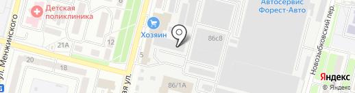 Парсек на карте Брянска