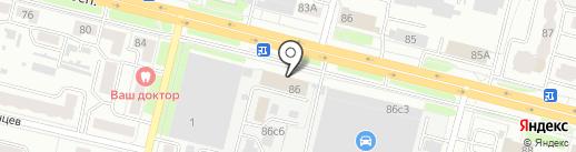 Технотраст на карте Брянска