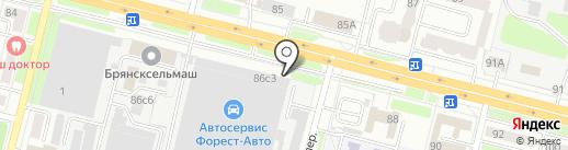 Брянсксельмаш, ЗАО на карте Брянска