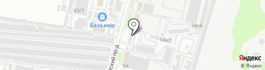 Автоптица на карте Брянска