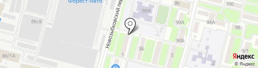 Тодес на карте Брянска