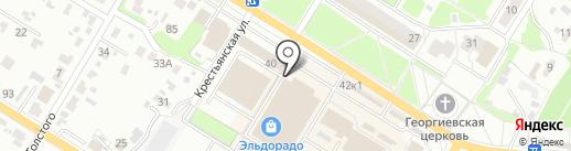 Садовая лавка на карте Брянска