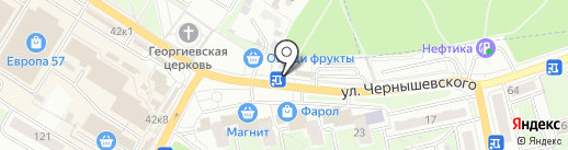 Пункт продажи проездных билетов на карте Брянска