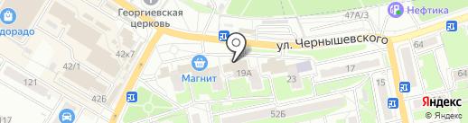 Автопоток на карте Брянска