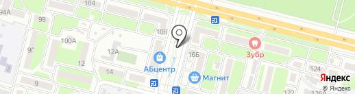 Киоск по продаже цветов на карте Брянска
