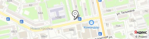 Киоск печатной продукции на карте Брянска