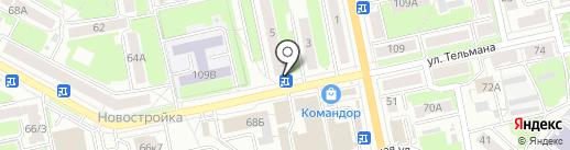Сеть салонов цветов на карте Брянска
