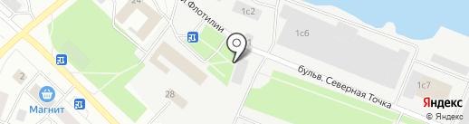 Авангард на карте Петрозаводска