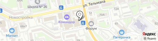 Рублик на карте Брянска