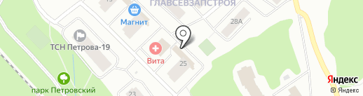 Афиночка на карте Петрозаводска