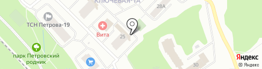 Качалка на карте Петрозаводска