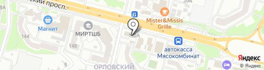 Магазин хлебобулочных изделий на карте Брянска