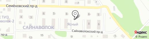 Новый Сайнаволок на карте Петрозаводска