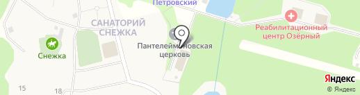 Озерный на карте Брянска