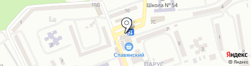 Аврора на карте Днепропетровска