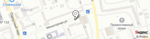 Наша Ряба на карте Днепропетровска