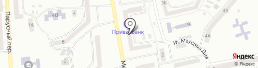 Банкомат, Дельта Банк на карте Днепропетровска